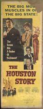 The Houston Story, Movie Poster, 1956, Gene Barry, Barbara Hale, 14 x 36