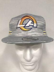 Los Angeles Rams New Era 9FIFTY Blurred Trick Snapback Hat Cap Men's New