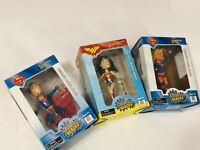 Wonder Woman - Superman - Supergirl Lot Headstrong Heroes Bobbleheads Monogram
