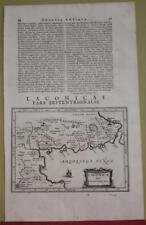 NORTHERN LAKONIA GREECE 1661 LAUREMBERG ANTIQUE ORIGINAL COPPER ENGRAVED MAP