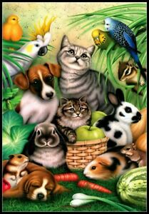 Magic Pets - DIY Charts Counted Cross Stitch Patterns Needlework DMC Color