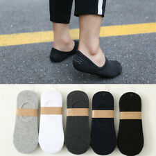 5-10 Pairs Womens Cotton Loafer Boat Non-Slip Invisible Low Cut No Show Socks7-9