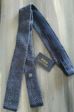 Ralph Lauren Polo Thin Knit Tie Hand Made Italy New