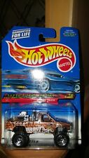 Hot Wheels 2000 Attack Pack Series Nissan Truck #021 Brown Tiger graphics