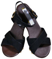 Girls New High Mid Heel Sandals Kids Summer Party Shoes Black UK4 3 2 1 11 12 13