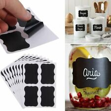 40Pcs Home Kitchen Jars Blackboard Stickers Chalkboard Lables Marking Tags Tool