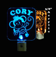 Personalized Cheeky Monkey LED Night Light - Kids Lamp - Animal