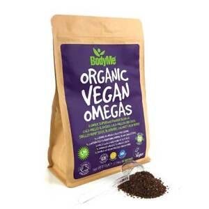 BodyMe Organic Vegan Omegas Powder   810g   Vegan Omega 3 6 9 Blend   30 Serving