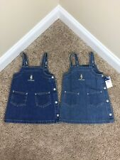 Baby Girl Polo Ralph Lauren Jean Overall Dress NWT $35 Vintage Twins 18 24 Month