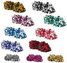 Pom Pom, Semi Fluff, Steamers, Two Color, Baton Handle Spirit, Cheer, Fan, Sport