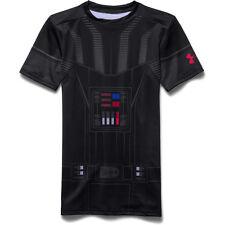 Under Armour HeatGear Ajustado Darth Vader Niño Manga Corta Camiseta 1276068-001