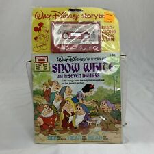 Walt Disney Snow White And The Seven Dwarfs Read-along book and tape 1978 SEALED