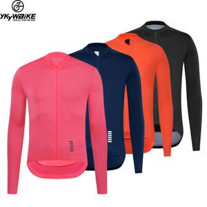 Mens Bike Cycling Jersey Long Sleeve  Jersey Race Slim Cycling Clothes Bicycle