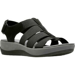 NEW Cloudsteppers by Clarks Womens Arla Shaylie Black Strappy Sandals size 6