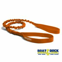 Extra Long Dock Tie Bungee , 5 Feet long Stretches to 8 Feet Orange
