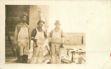 c1910 Occupation Construction Workers Carpentry RPPC Real Photo