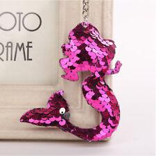 Sequins Mermaid Keychain Women Girl Bag Purse Hanging Decor Gift Keyring R