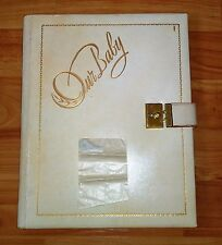 """Our Baby""1942 Baby Scrapbook w/ Lock & Key by Dr. Defoe **Rare New/Unused**"