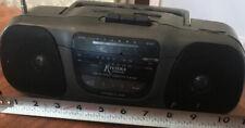 Vintage Mini am/fm Cassette Player Boombox Radio SX-9281 Riviera Collection 4D's