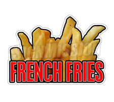 """FRENCH FRIES I Concession 12"""" Decal  sign fry oil cart trailer stand sticker"""