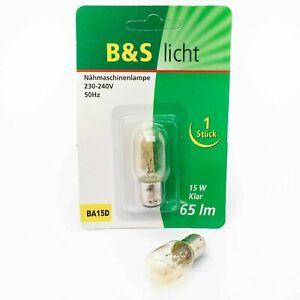 BA15D Nähmaschinenlampe 15W klar 65 lm / 230-240V 50Hz / Nähmaschine Lampe