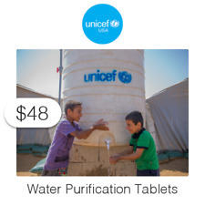 $48 Charitable Donation For: Water Purification Tablets