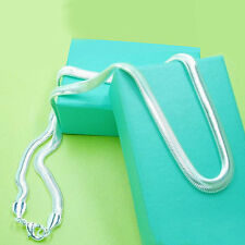 wholesale 1PCS 925 sterling solid silver fashion 6MM snake chain necklace DN06