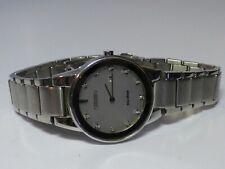 V Clean S/S Lady's Citizen Eco-Drive Axiom Diamond Dial Watch J015-S095921 Runs