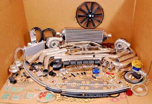 FOR MOPAR SMALL BLOCK TT DODGE RT 1000HP Twin Turbo KIT 318 340 360 5.2L 5.9L