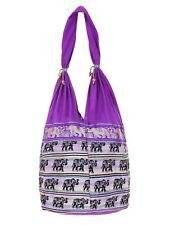 Indian Shoulder Ethnic Elephant Jhola Hand Bag Festival Style Travel Bags Hippie
