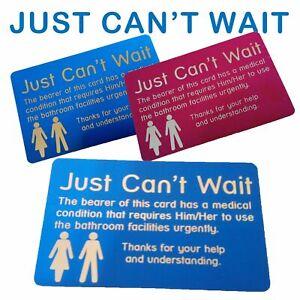 Just Can't Wait Card   Ulcerative Colitis   Crohn's Disease   Inflammatory Bowel