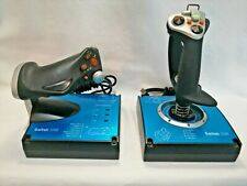 Saitek X45 Advanced Flight Stick J24C USB Simulator Controller TESTED