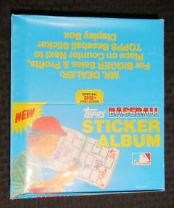 1981 Topps BASEBALL STICKER ALBUM Display Box with 12 Albums Inside