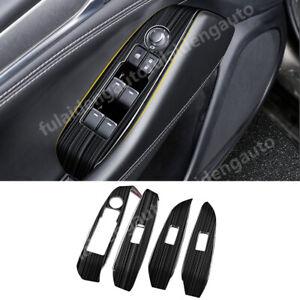 For Mazda 6 Atenza 2019-2021 Black Interior Window lift panel switch cover trim