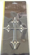 Bully Stainless Steel Cross Dual Layer 3D Emblem Decal Badge for Car,Truck,SUV's