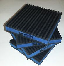 8 PACK ANTI VIBRATION PADS ISOLATION DAMPENER SUPER HEAVY DUTY BLUE 4x4x7/8 MP4E