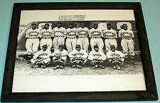 1936 KANSAS CITY MONARCHS FRAMED B&W PRINT NEGRO LEAGUE
