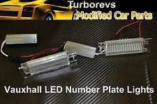 VAUXHALL BRIGHT LED XENON REAR NUMBER PLATE LIGHT MODULE HOUSING WHITE 6000K