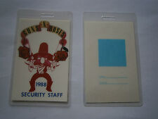 Guns N Roses Unused 1988 Laminated SECURITY STAFF Backstage Tour Pass