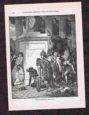 Sack of Rome by Gauls in 390 BC -1894 Page of History