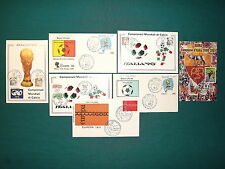 2448 - Repubblica - Lotto di 7 documenti postali (annuli speciali calcio)