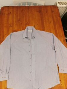 Marks and Spencer (M&S) Mens Blue Luxury Shirt