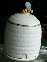 Antique AYNSLEY BONE CHINA HONEY JAR CIRCA 1940s, Made in England