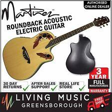 NEW Martinez Acoustic-Electric Roundback Cutaway Guitar (Natural Gloss)