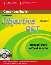 CAMBRIDGE ENGLISH Objective PET Student Book without Answers with CD-ROM @NEW