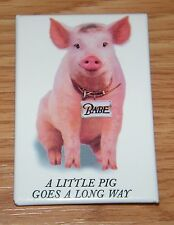"Vintage Ucs 1995 Babe ""A Little Pig Goes a Long Way"" 3"" Inch Collectible Pin!"