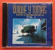 Quique Y Tomas Epoca Romantica V5 CD CANAL 1991 Puerto Rico