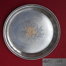 Petite assiette en argent massif origine Kiev URSS de 1953