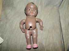 Antique Black Baby Doll made of red Clay (pottery?) (prototype?) pat. pending mk