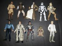Lot of 10 - 1990s LFL Star Wars Action Figures NO DUPLICATES RARE SET CLEAN❤🖤